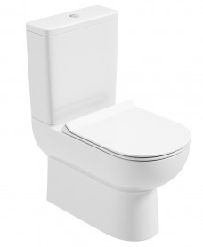 Viva Fully Shrouded WC - Slim Soft Close Seat