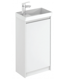 Dijon White 45 Floor Standing Vanity Unit and Mirror.