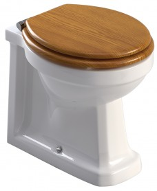 Westbury Back to Wall Toilet and Oak MDF Soft Close Seat