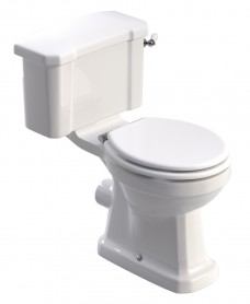 Westbury Traditional Close Coupled Toilet & White MDF Soft Close Seat