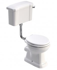 Westbury Traditional Low level Close Coupled Toilet & White MDF Soft Close Seat