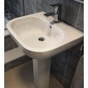 Sigma 55cm Washbasin 1TH & Full Pedestal