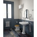 Westbury 55 cm Basin and Full Pedestal 2 Tap Hole