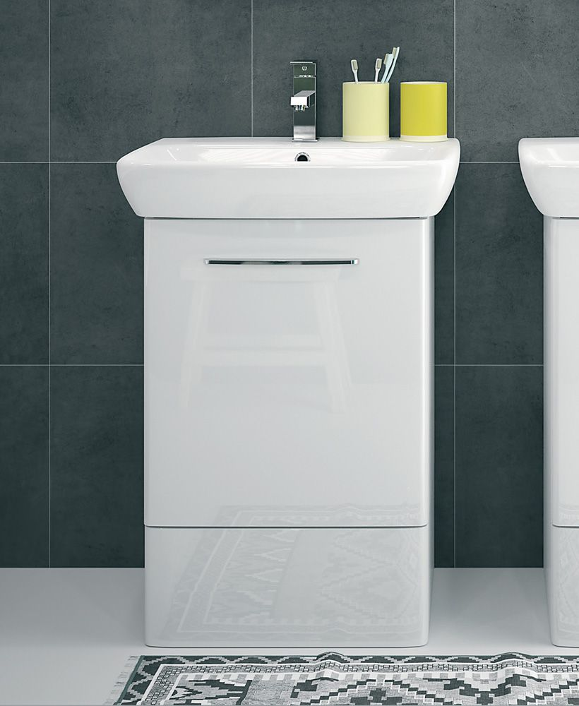 E100 500 White Vanity Unit