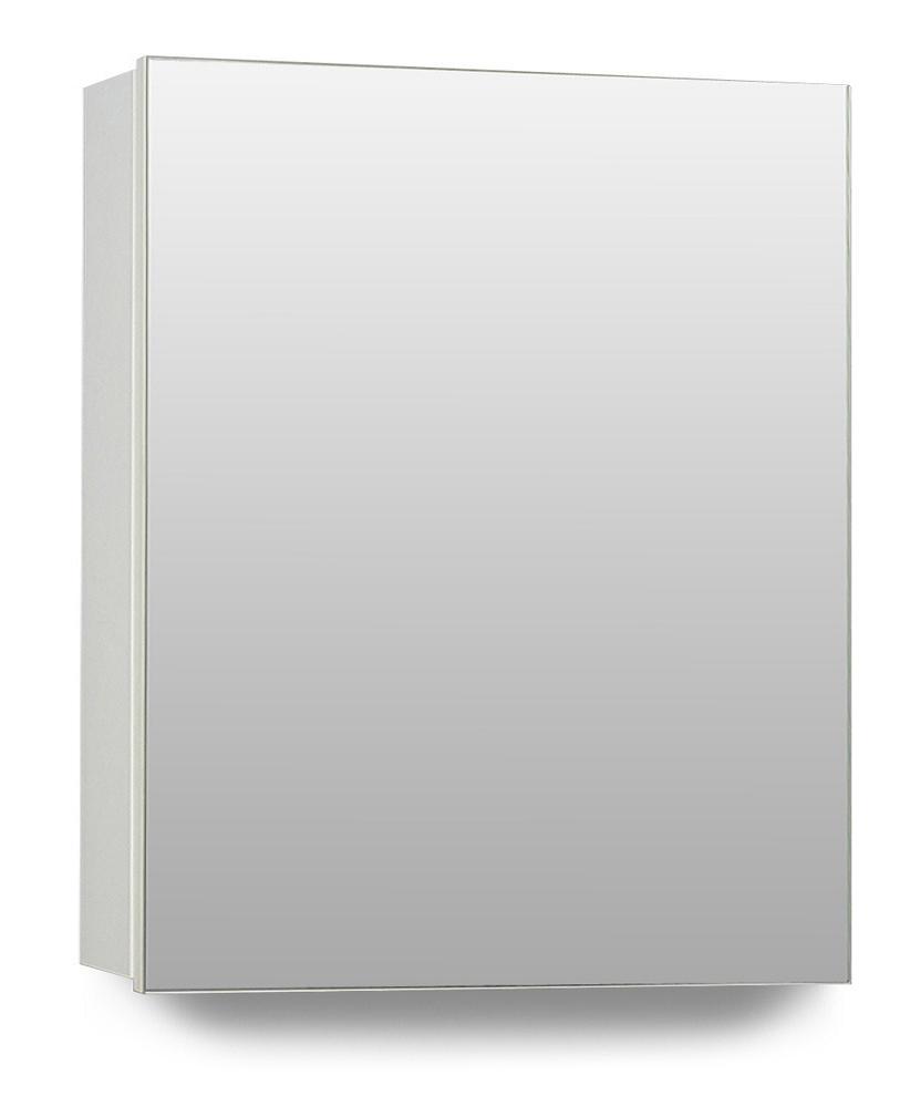 Hampton 1 Door Mirror Cabinet 40cm White Bathroom