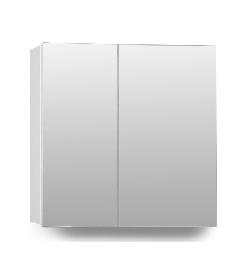 Hampton 2 Door Mirror Cabinet 70cm White Bathroom