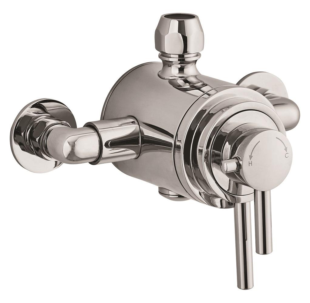emma dual control exposed thermostatic shower valve. Black Bedroom Furniture Sets. Home Design Ideas