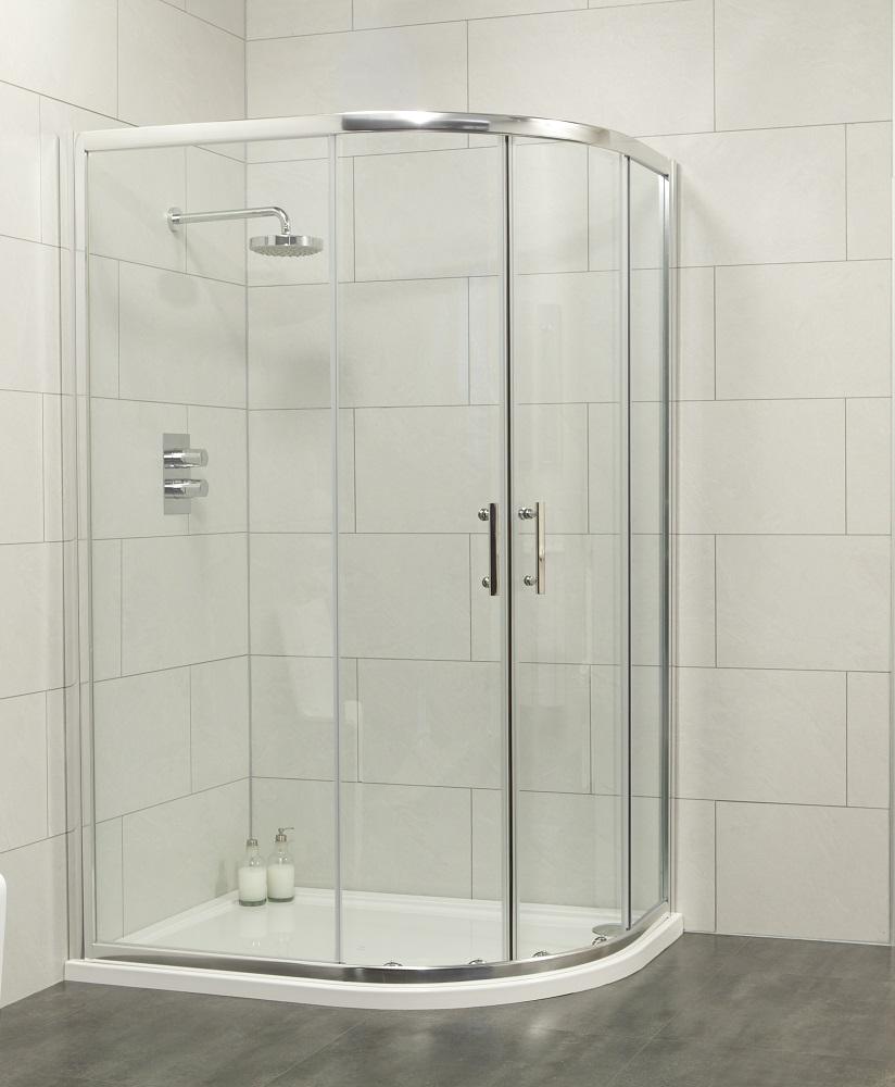 City 1000x800 Offset Quadrant Shower Enclosure Offset