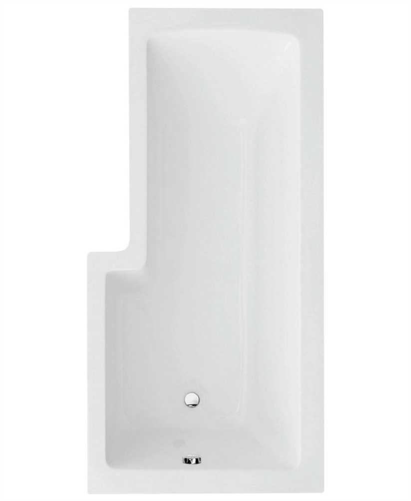 L Shape 1700 X 850 Right Hand Shower Bath With Bath Panel