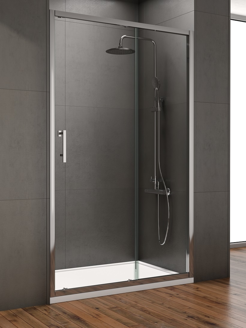 Style 1300mm sliding shower door adjustment 1250 1290mm for 1300 mm sliding shower door