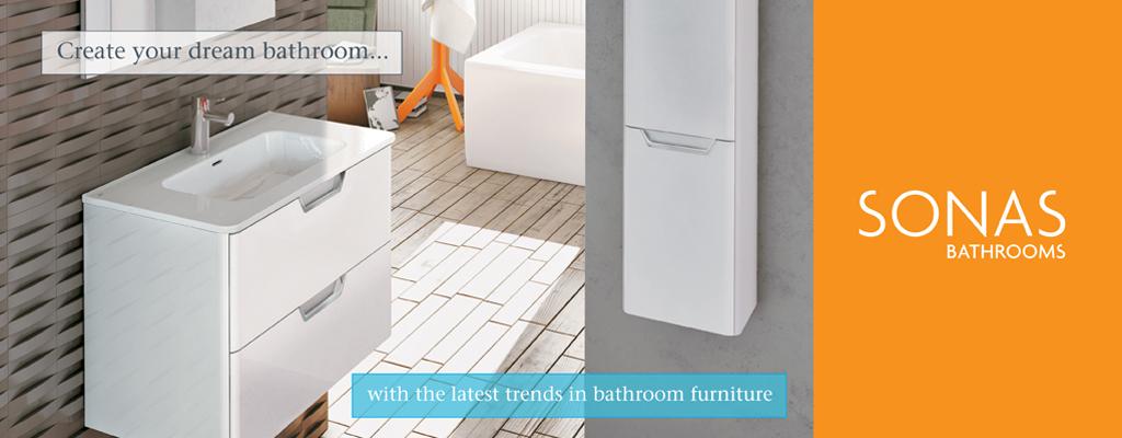 SONAS Lyon Gloss White Bathroom Furniture